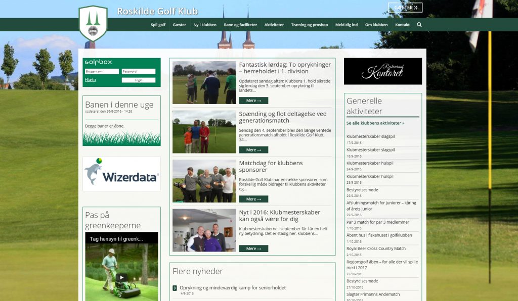 Sprogtips har opbygget www.roskildegolfklub.dk og er fortsat webmaster for siden.